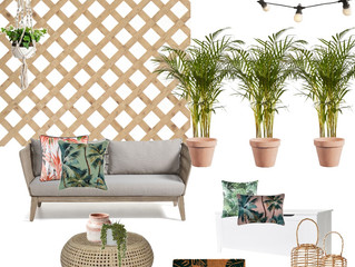 My Outdoor Courtyard Moodboard Design