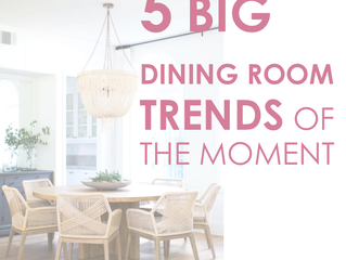 5 Big Dining Room trends of the moment