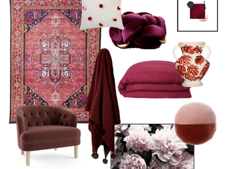 July colour of the month - Burgundy