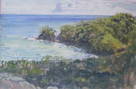 Punta islita gouache