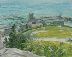 View from the Fortezza, oil
