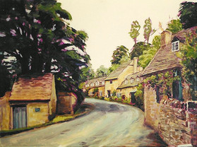 Street in England, Oil