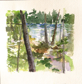 View from the Cottage, Watercolor