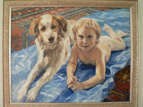 Dancer and Her. Boy, Oil