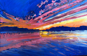 Red Sky, oil  SOLD