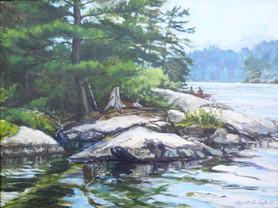 Stevens Creek paddle, Ontario, CA, Oil  SOLD