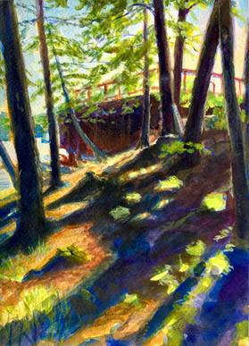 Path to the Boathouse, Acrylic 8x11.jpeg
