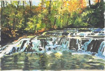 Corbett's Glen falls, Acrylic sold.jpeg