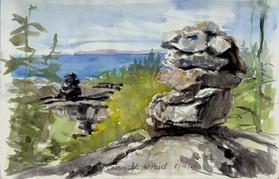 Atop Isle Au Haut, Watercolor