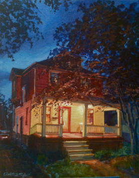 40 Crawford St. painting, Oil