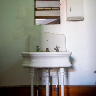 Bathroom Sink in Kitchen Building