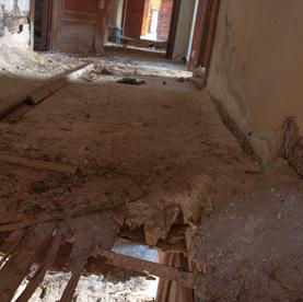 Awl Building Hole in Floor