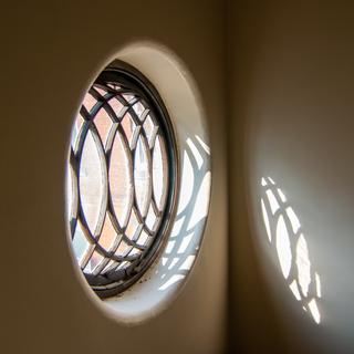 Window in Admin stairwell