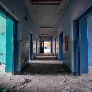 Hospital Building Ward Hallway