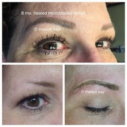 Healed Microblading 8 Months