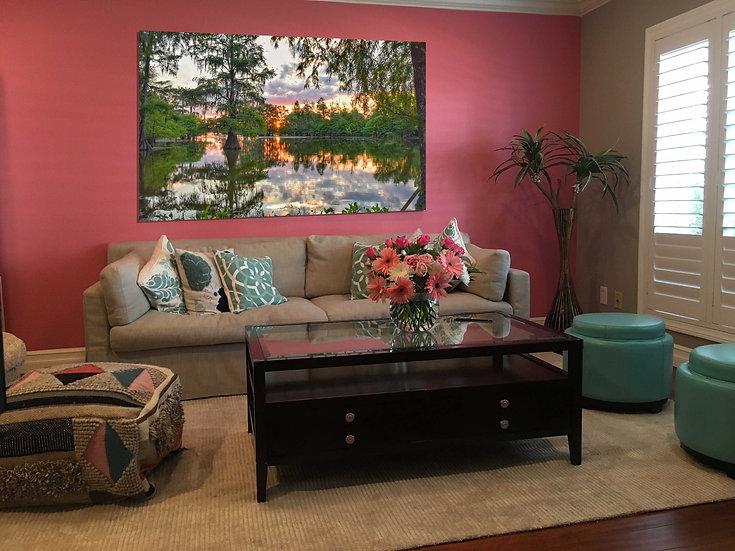 """""""Fiery Lake Martin sunset"""" printed photo canvas"""
