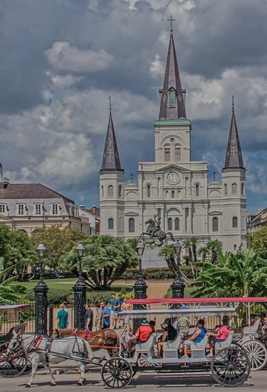 """""""St Louis Cathedral"""" printed photo canvas"""