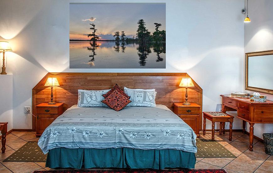 """Cypress sunrays"" printed photo canvas"