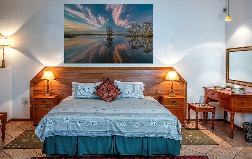"""""""Black Bayou untroubled waters"""" printed photo canvas"""