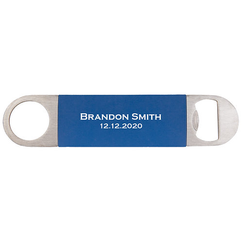 Blue Bottle Opener Silicone Grip