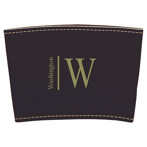 Leather Cup Sleeve Black