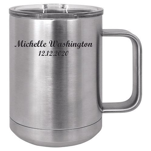 15 oz. Stainless Steel Vacuum Insulated Mug with Slider Lid