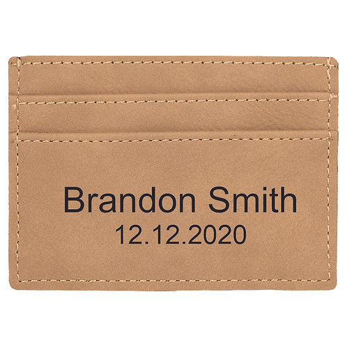 Tan Leatherette Slim Wallet