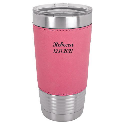 20 oz. Leatherette Polar Camel Cup Pink