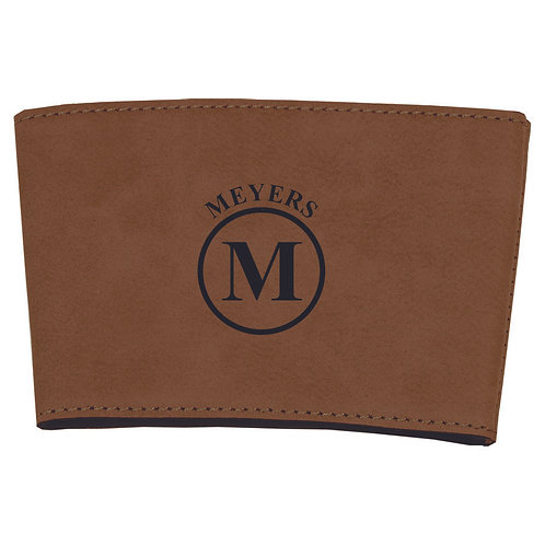 Leather Cup Sleeve Brown