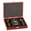 Thumbnail: Black 6 oz.  Flask Gift Set With Rosewood Case
