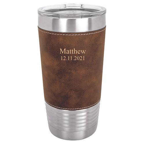 20 oz. Leatherette Polar Camel Cup Rustic