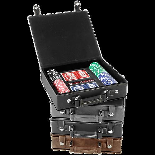 Leatherette 100 Chip Poker Set