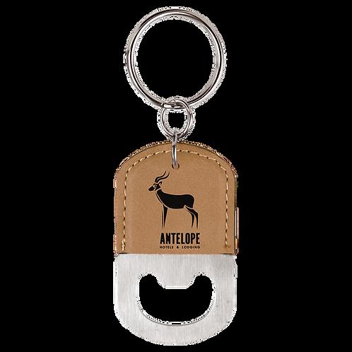 Leatherette Bottle Opener Keychain