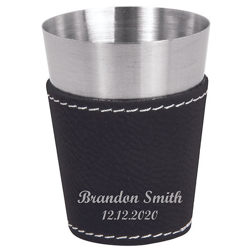 Black Wrapped Stainless Steel Shot Glass