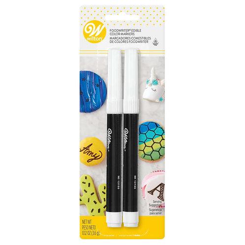 Food Writer Edible Black Color Marker Set, 2-Piece