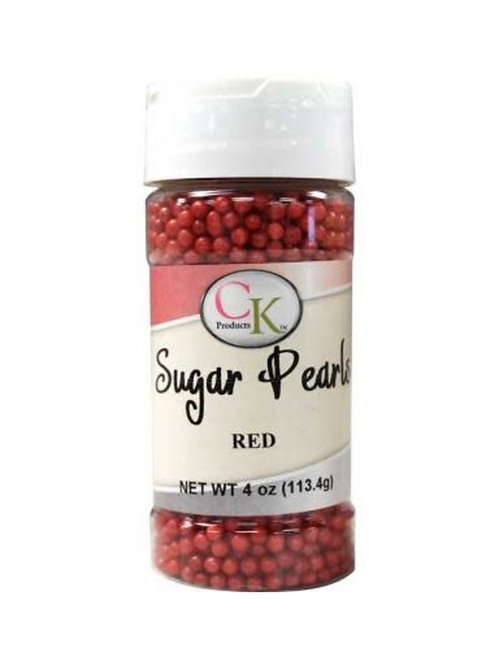 Red Sugar Pearls 4 oz