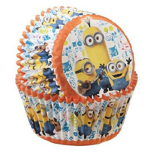 Wilton Disney MINIONS Birthday Party Cupcake Baking Cups Qty-50 Cupcake Liners