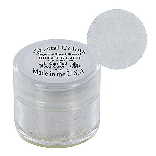 Silver Crystallized Pearl Crystal Color Dust