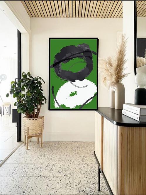 """Green Mood"" - 40x30"" Canvas"