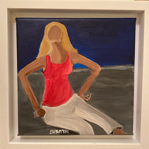 """Hannah I"" - 8x8"" original painting"