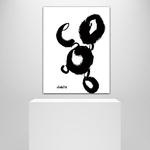 """Pluto"" - 24x18"" Canvas"