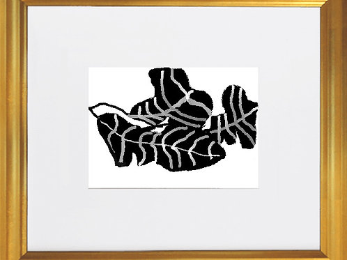 """""""Leaves"""" - 12x14"""" in Gold Frame"""