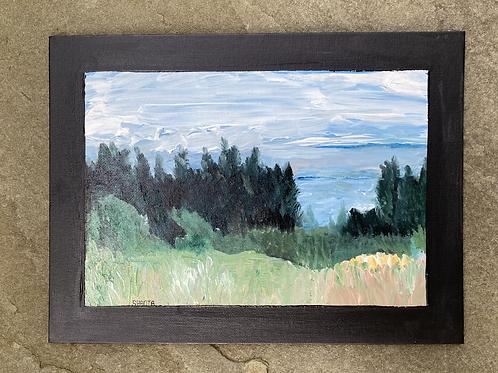 "Landscape 1.1 - 12x9"" acrylic original painting"