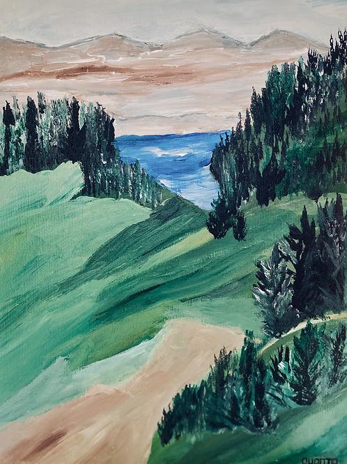 """Landscape 2.2 - Original 9x12"""" painting"""