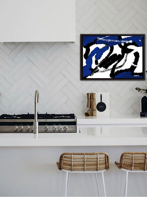 """""""Charge"""" by Shanta - 16x20"""" Black Float framed canvas"""