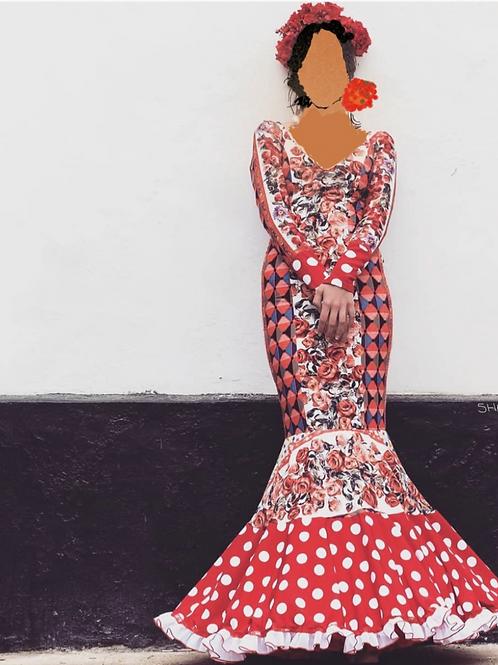 """Flamenco 11x17"""" on canvas (no frame)."""