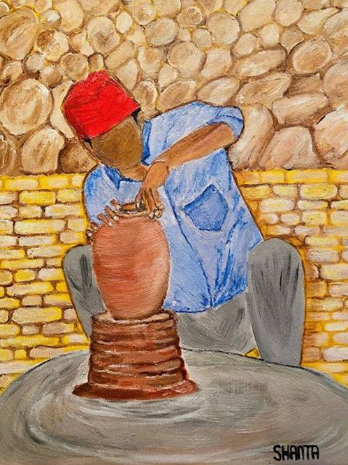 """Ceramic Worker"" - 18x24"""