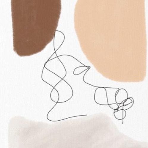 """Abstract by Shanta 24"""" x 36"""""""