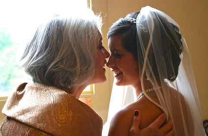 A Mother and Daughter on her wedding day