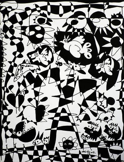 Garden Of Eden (Black & White)